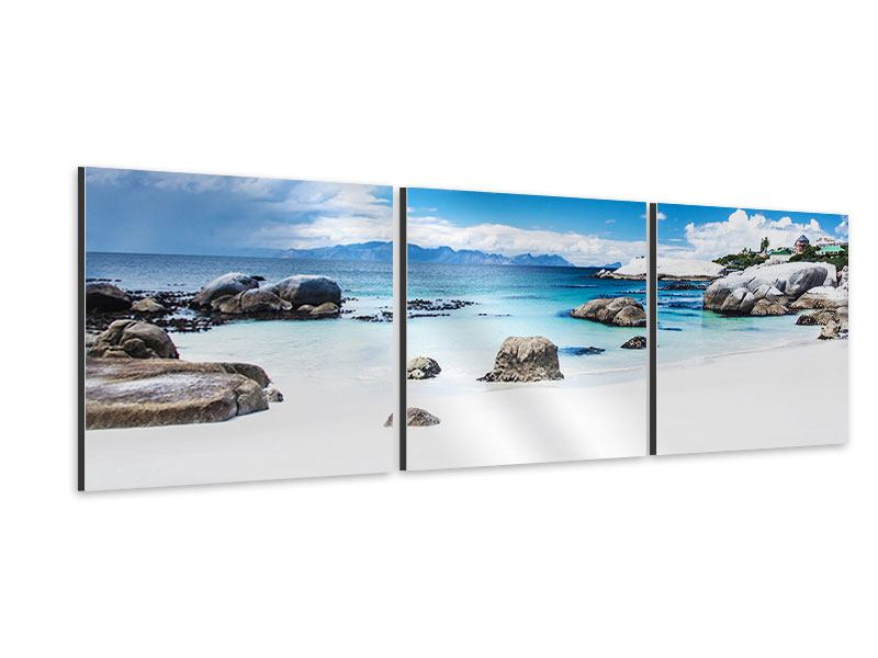 Panorama Aluminiumbild 3-teilig Inselfeeling