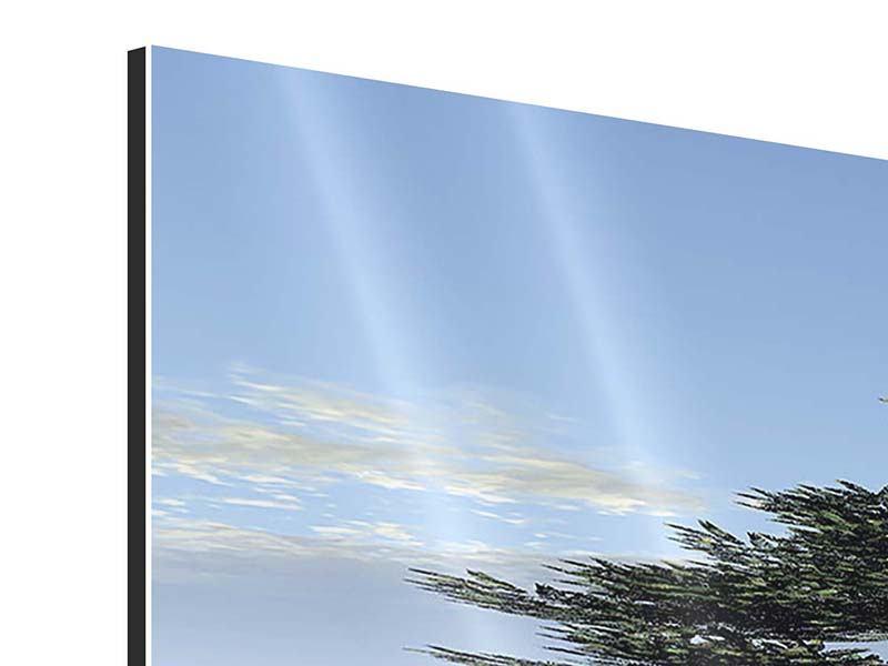 Panorama Aluminiumbild 3-teilig Naturfaszination