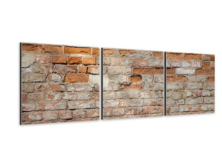 Panorama Aluminiumbild 3-teilig Alte Klagemauer