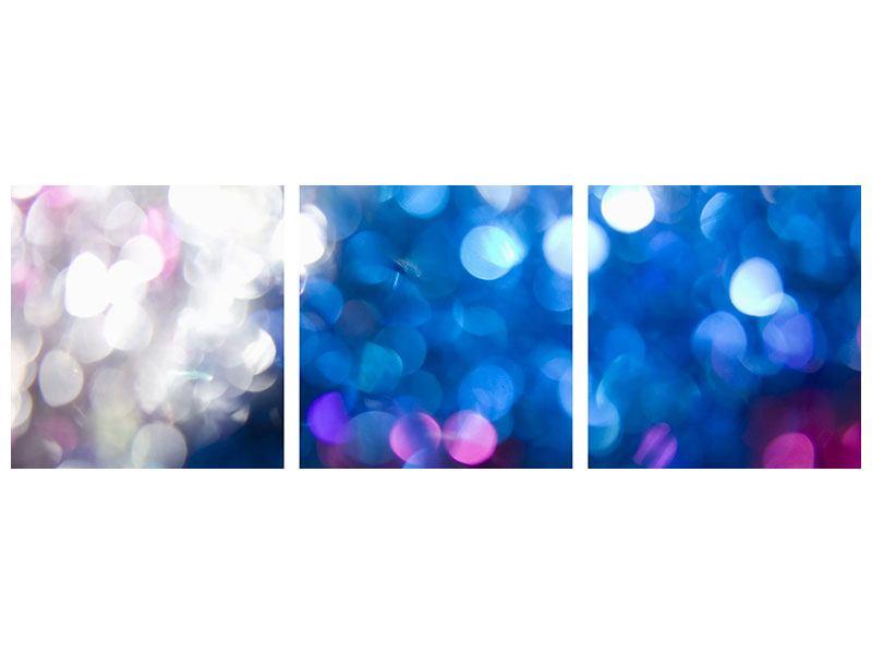 Panorama Aluminiumbild 3-teilig Abstraktes Licht