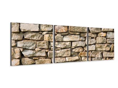 Panorama Aluminiumbild 3-teilig Natursteine