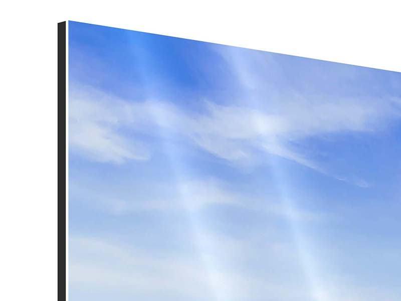 Panorama Aluminiumbild 3-teilig Thailands Traumstrand