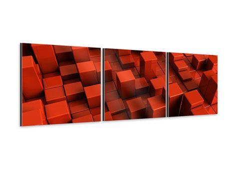 Panorama Aluminiumbild 3-teilig 3D-Rechtkant