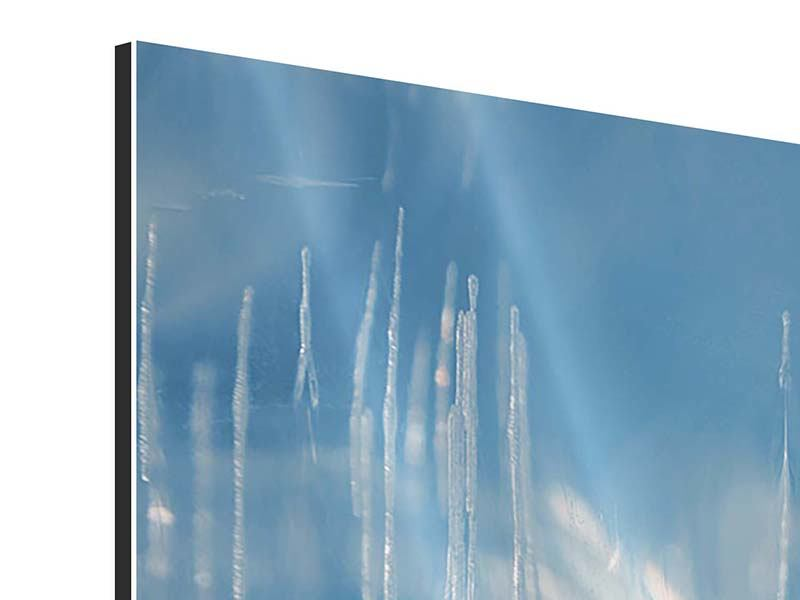 Panorama Aluminiumbild 3-teilig Das Eis des Baikalsees