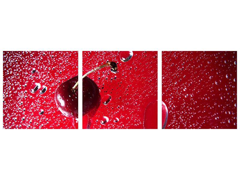 Panorama Aluminiumbild 3-teilig Die Kirsche