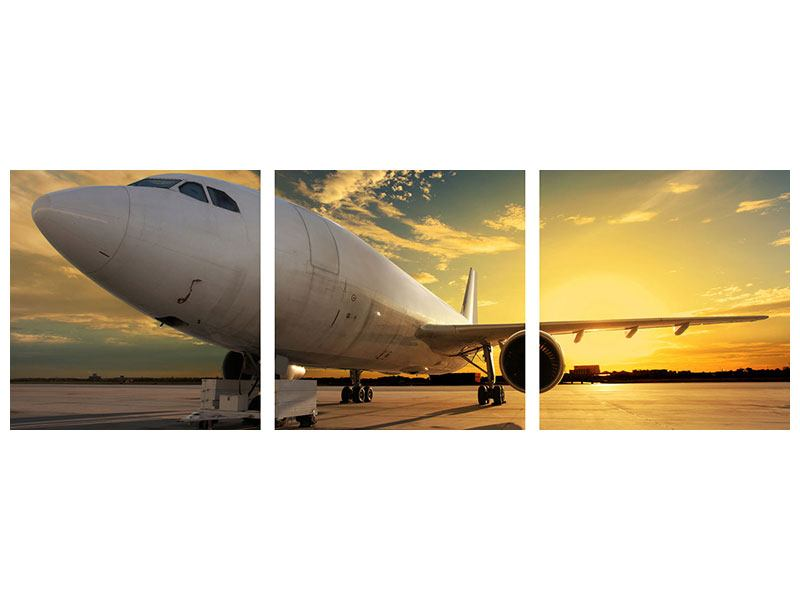 Panorama Aluminiumbild 3-teilig Jet