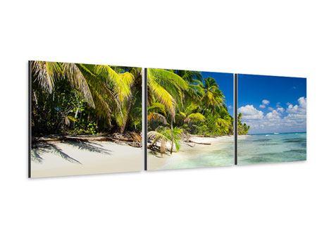 Panorama Aluminiumbild 3-teilig Die einsame Insel