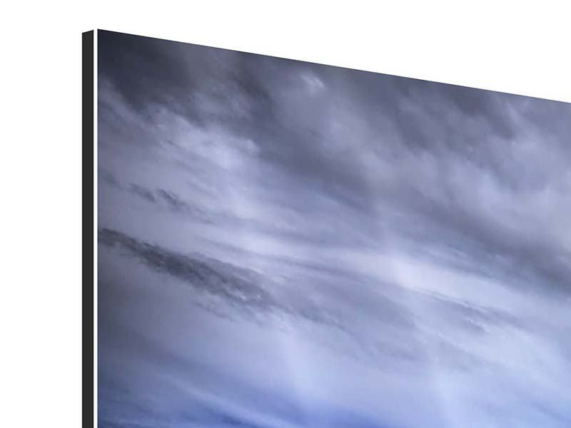 Panorama Aluminiumbild 3-teilig Strandwellen