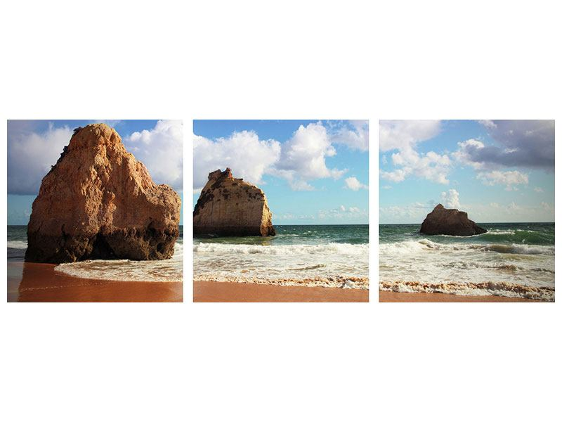 Panorama Aluminiumbild 3-teilig Strandgedanken