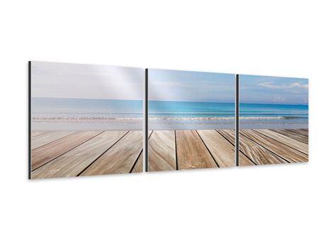 Panorama Aluminiumbild 3-teilig Das schöne Strandhaus