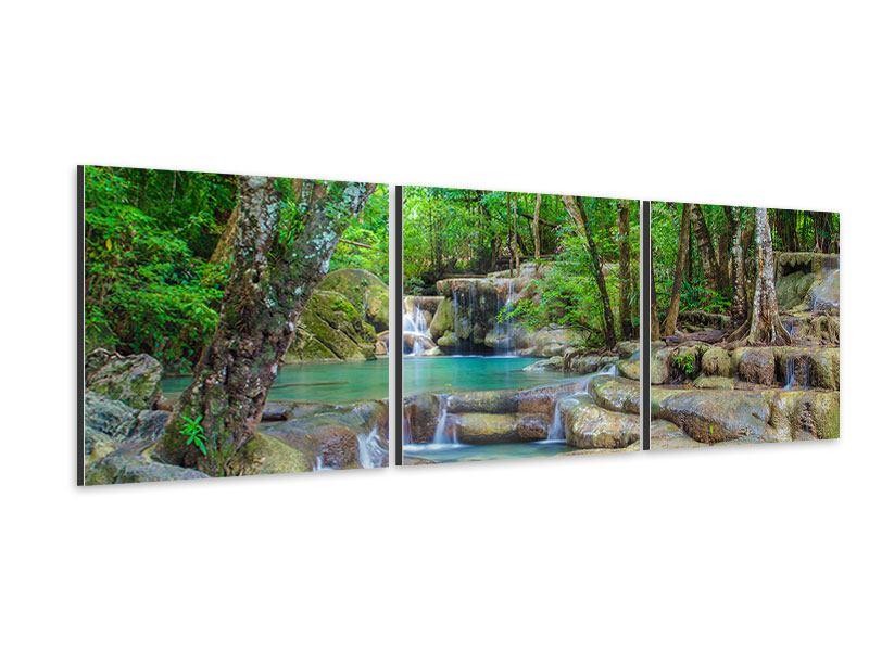 Panorama Aluminiumbild 3-teilig Wasserspektakel