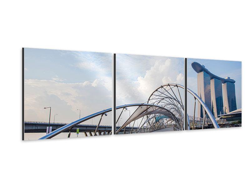 Panorama Aluminiumbild 3-teilig Helix-Brücke