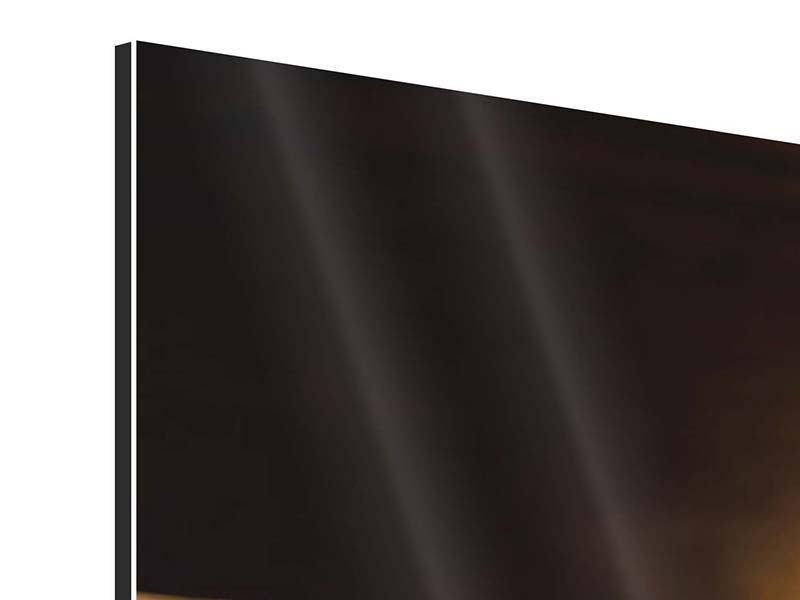 Panorama Aluminiumbild 3-teilig Kaffeepause