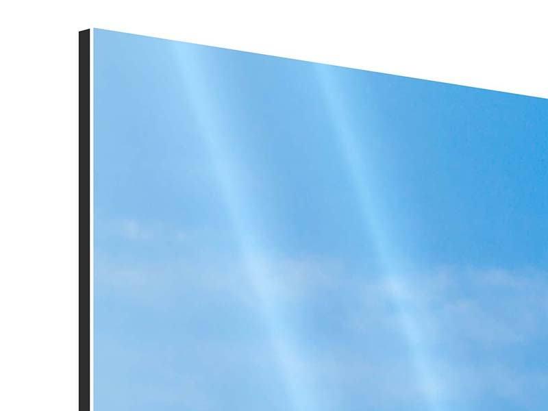 Panorama Aluminiumbild 3-teilig Das majestätische Matterhorn