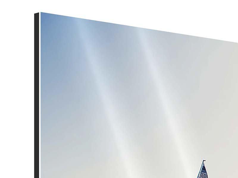 Panorama Aluminiumbild 3-teilig Segelyacht