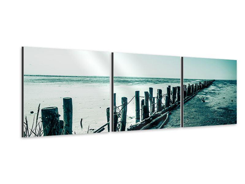 Panorama Aluminiumbild 3-teilig Das Wattenmeer