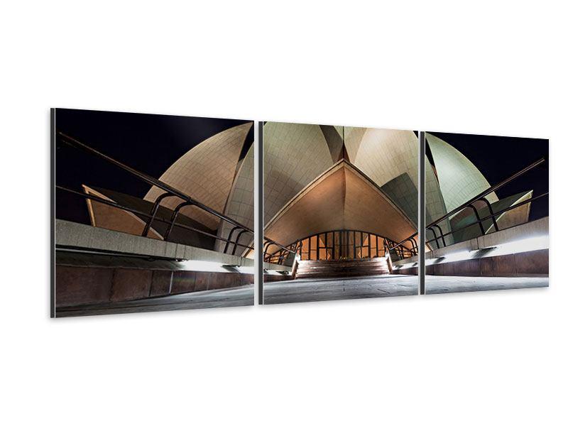 Panorama Aluminiumbild 3-teilig Der Lotus-Tempel