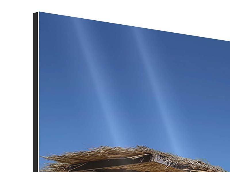Panorama Aluminiumbild 3-teilig Umbrellas