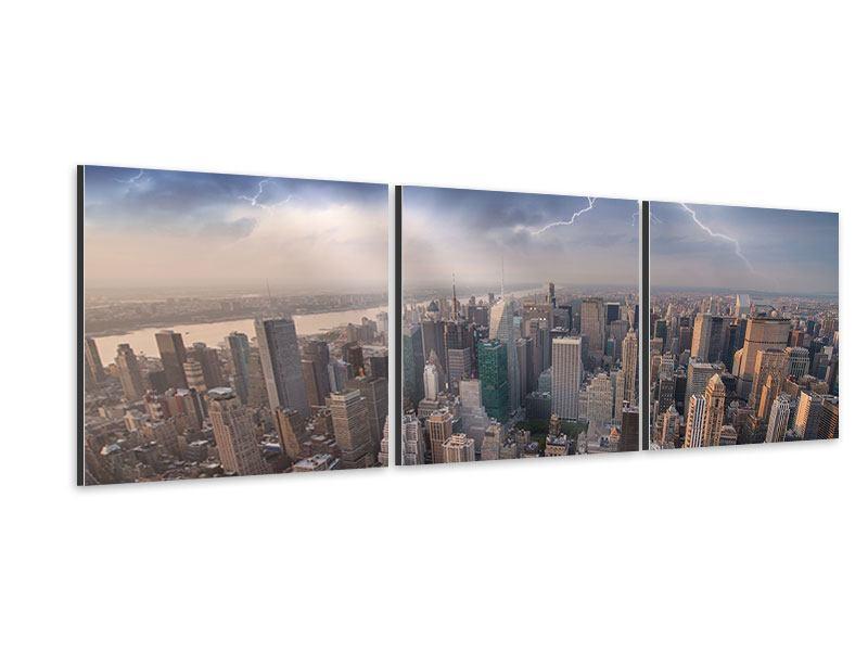 Panorama Aluminiumbild 3-teilig Manhattan
