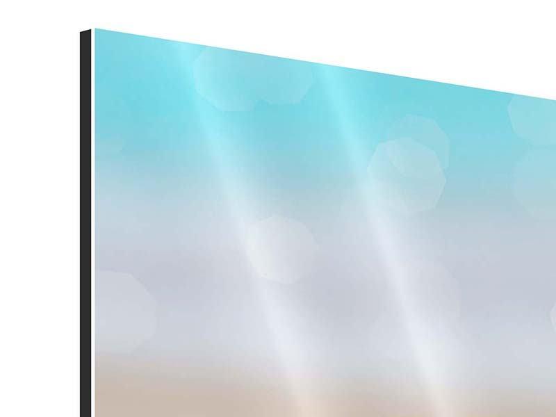 Panorama Aluminiumbild 3-teilig Die Muschel am Strand