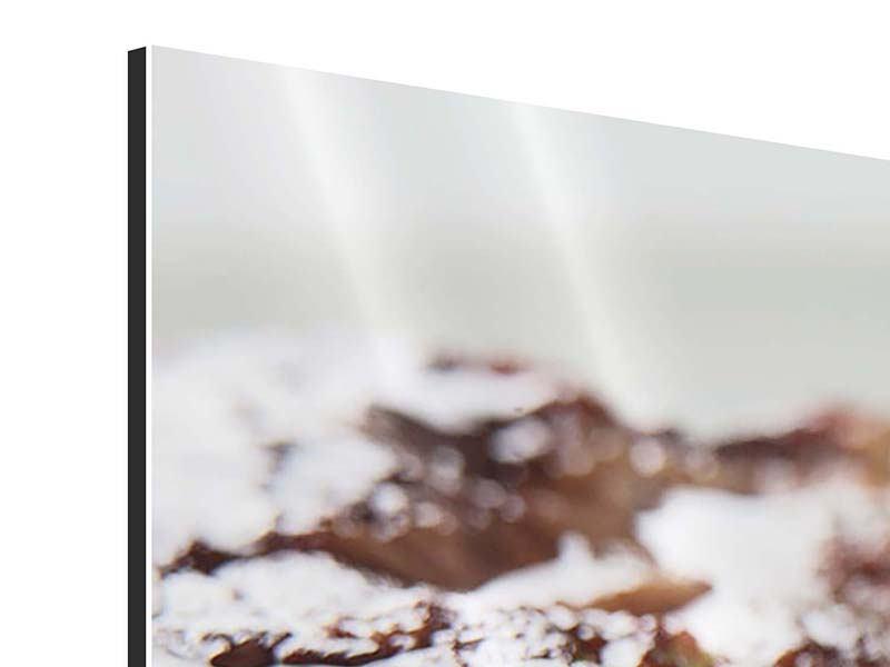 Panorama Aluminiumbild 3-teilig Perfektes Rindsfilet
