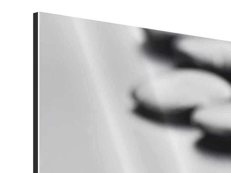 Panorama Aluminiumbild 3-teilig Polierte Steine