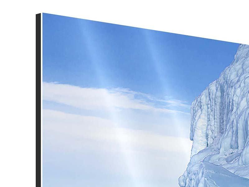 Panorama Aluminiumbild 3-teilig Eislandschaft Baikalsee