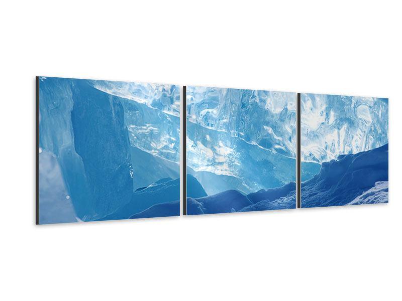 Panorama Aluminiumbild 3-teilig Baikalsee-Eis