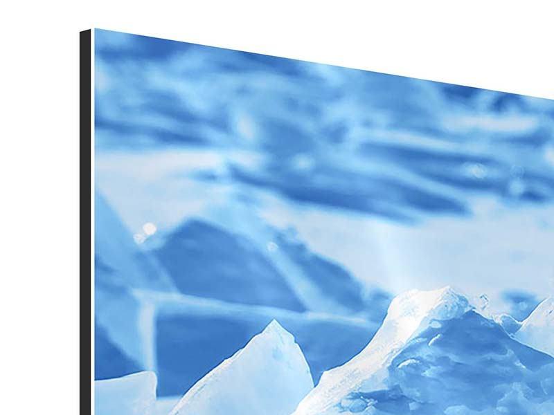 Panorama Aluminiumbild 3-teilig Eis des Baikalsees