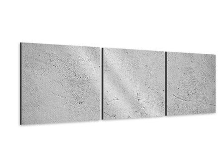 Panorama Aluminiumbild 3-teilig Beton