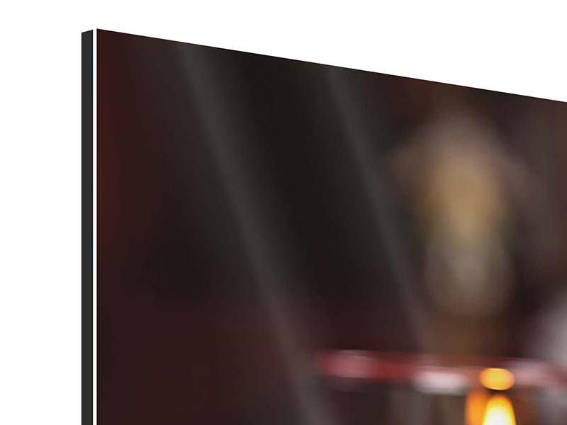 Panorama Aluminiumbild 3-teilig Köstliches Geflügel