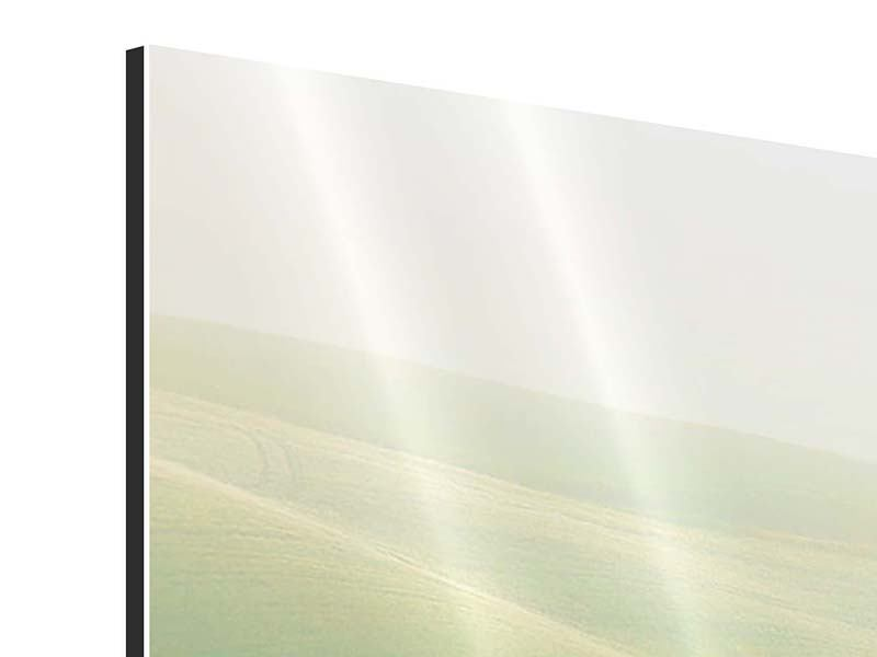 Panorama Aluminiumbild 3-teilig Toskana