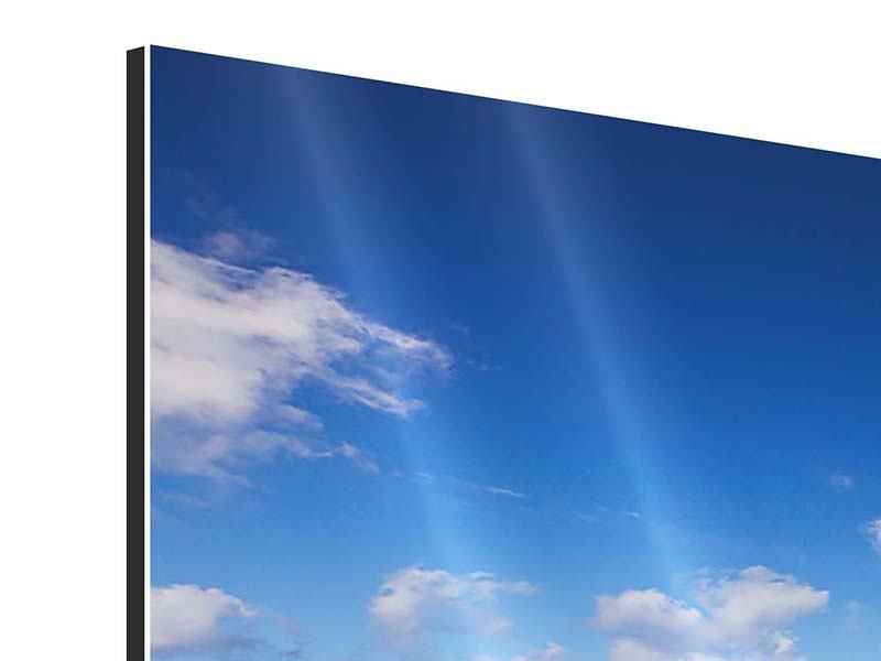 Panorama Aluminiumbild 3-teilig Die Gezeiten und das Meer