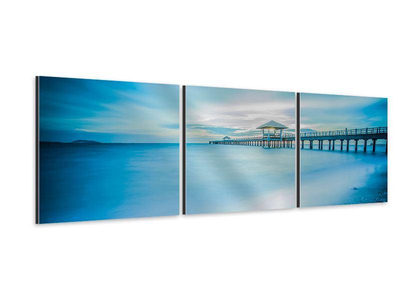 Panorama Aluminiumbild 3-teilig Brückenimpression