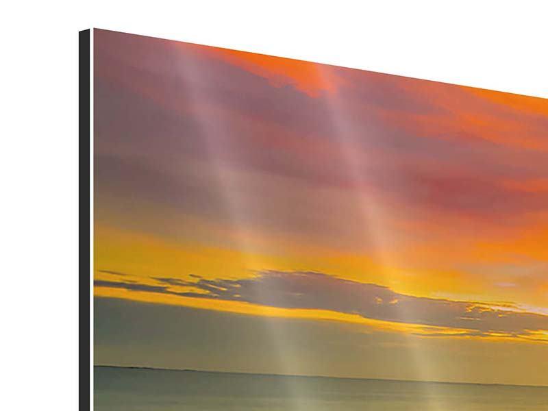 Panorama Aluminiumbild 3-teilig Eine Holzbrücke im fernen Osten