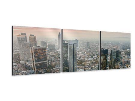 Panorama Aluminiumbild 3-teilig Skyline Penthouse in New York