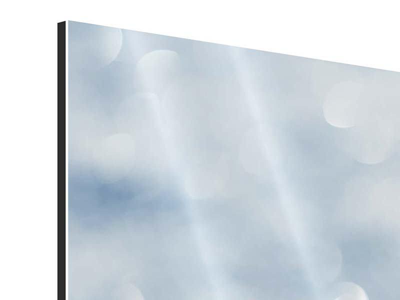 Panorama Aluminiumbild 3-teilig Kristallglanz