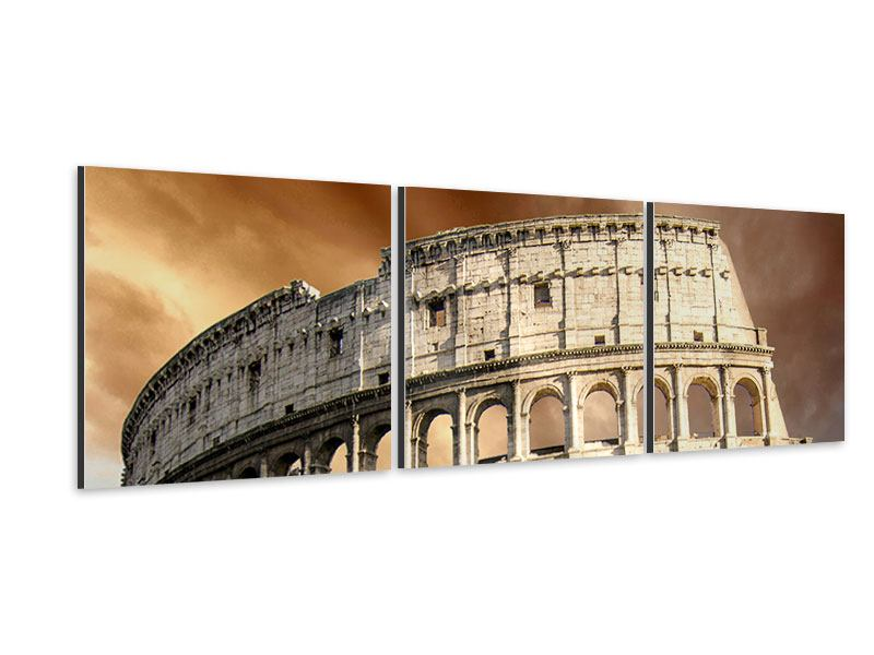 Panorama Aluminiumbild 3-teilig Kolosseum Rom
