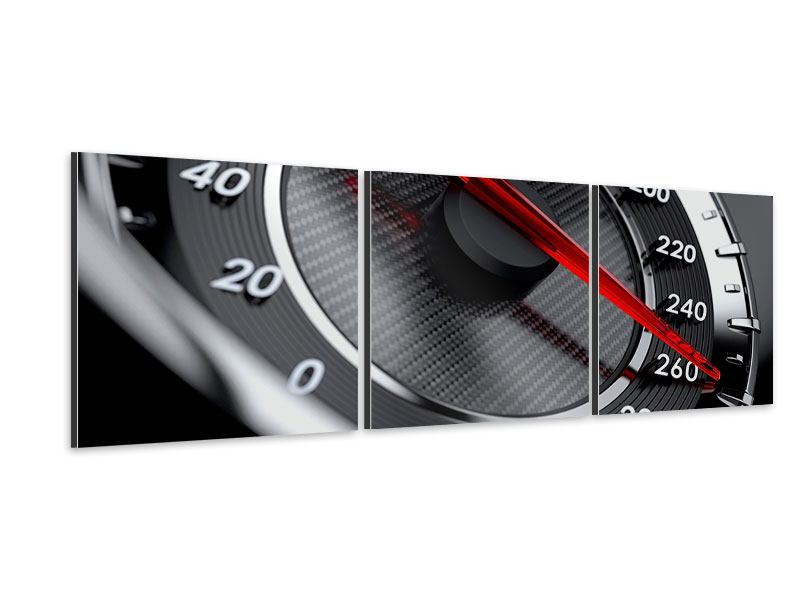 Panorama Aluminiumbild 3-teilig Geschwindigkeit