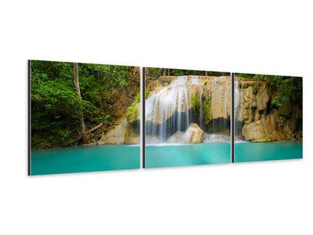Panorama Aluminiumbild 3-teilig Frische Brise