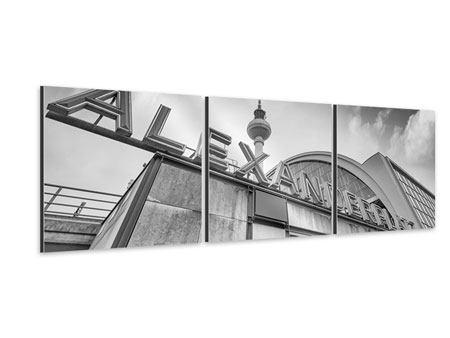 Panorama Aluminiumbild 3-teilig Alexanderplatz