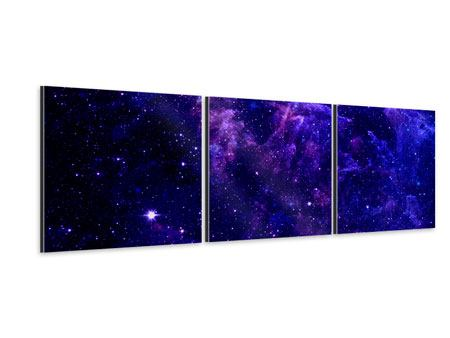 Panorama Aluminiumbild 3-teilig Ein Himmel voll Sterne