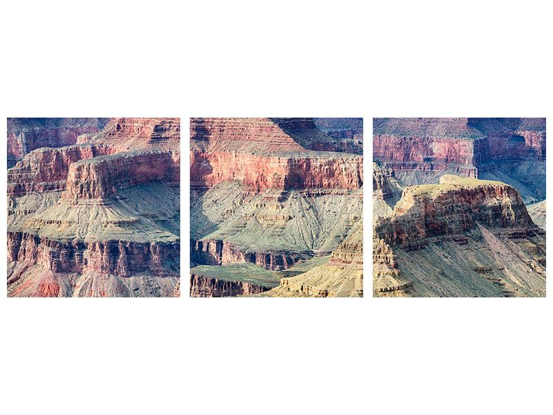 Panorama Aluminiumbild 3-teilig Gran Canyon