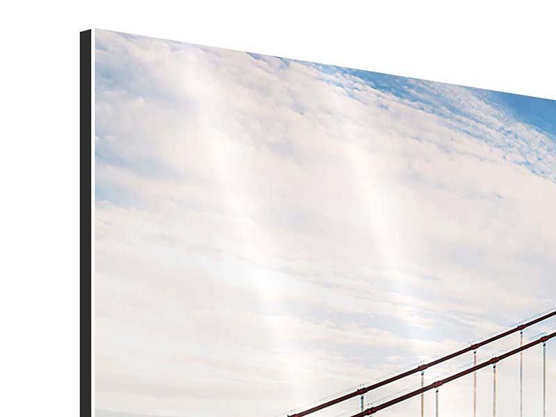 Panorama Aluminiumbild 3-teilig Golden Gate Bridge