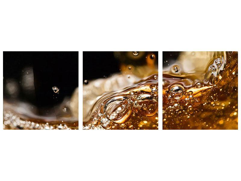 Panorama Aluminiumbild 3-teilig Cognac