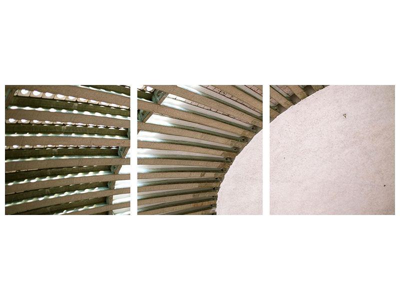Panorama Aluminiumbild 3-teilig Abstraktes Rad