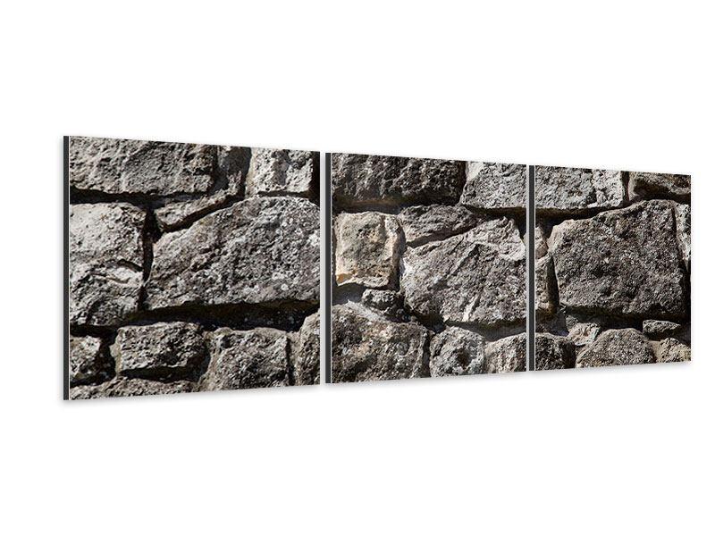 Panorama Aluminiumbild 3-teilig Grosses Mauerwerk