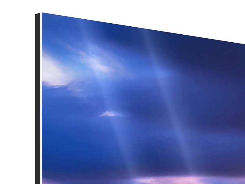 Panorama Aluminiumbild 3-teilig Meditation am Meer