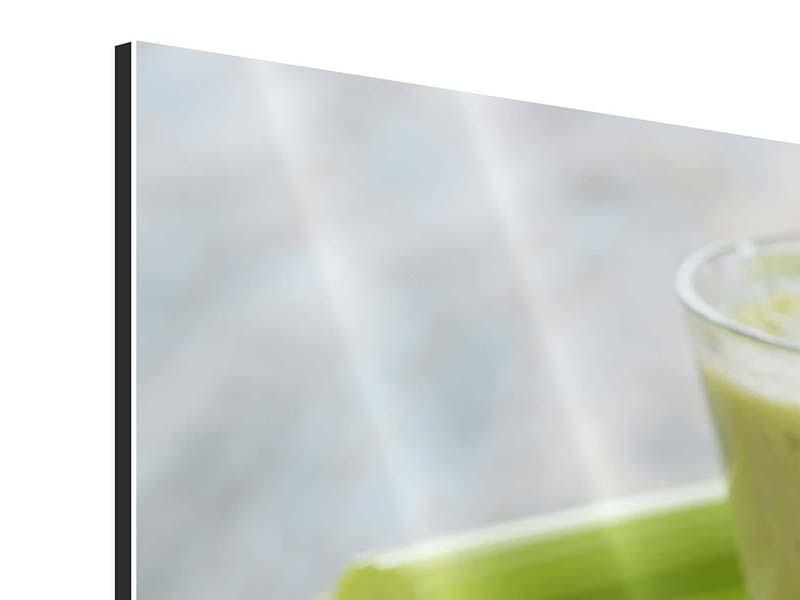Panorama Aluminiumbild 3-teilig Smoothie