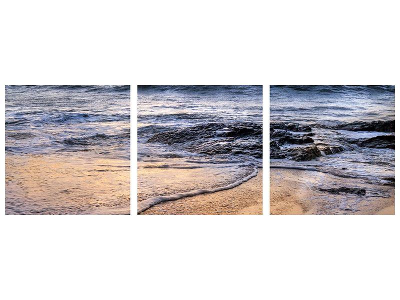 Panorama Aluminiumbild 3-teilig Das Meer